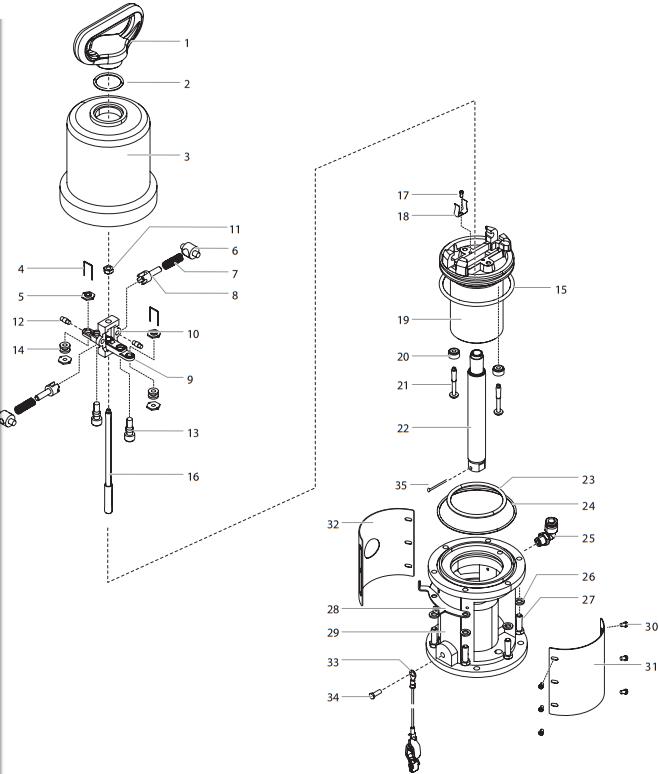 PowrCoat 630 Air Motor Assembly : Titan, Speedflo, Wagner