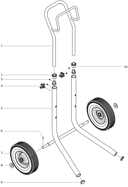 PowrCoat 630 Cart Assembly : Titan, Speedflo, Wagner