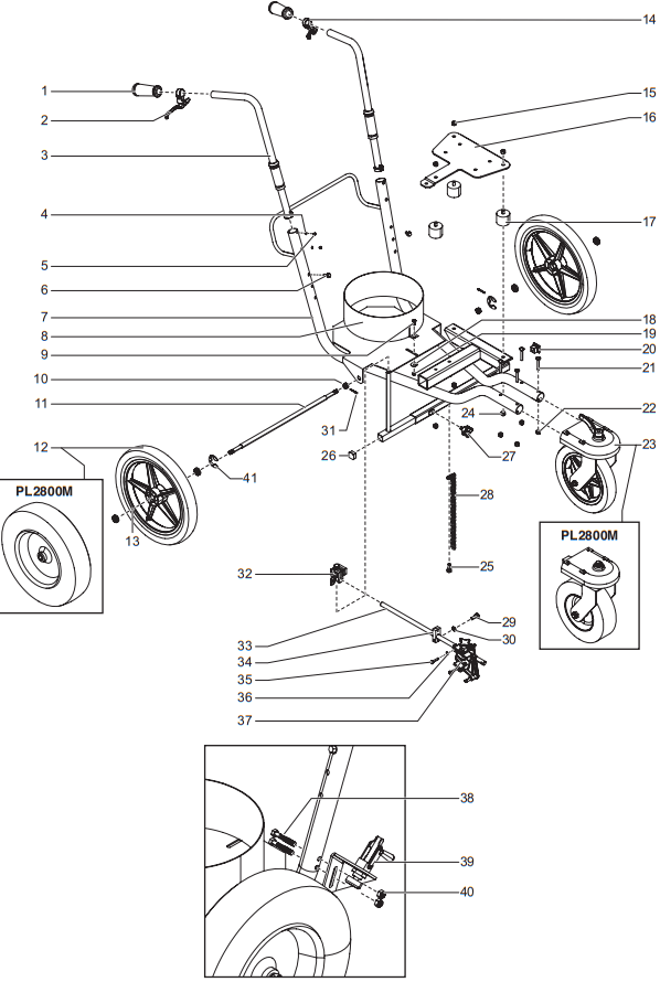 PowrLiner 1800M/2800M Cart Assembly : Titan, Speedflo