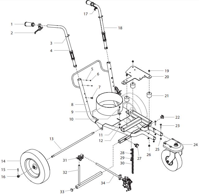 PowrLiner 2850 Cart Assembly : Titan, Speedflo, Wagner