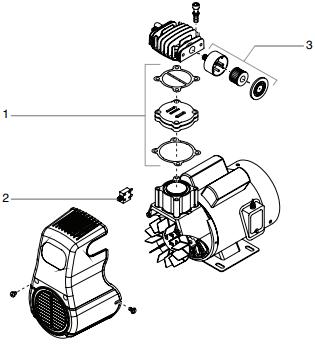 PowrTex 300DD / 600DD Air Compressor : Titan, Speedflo