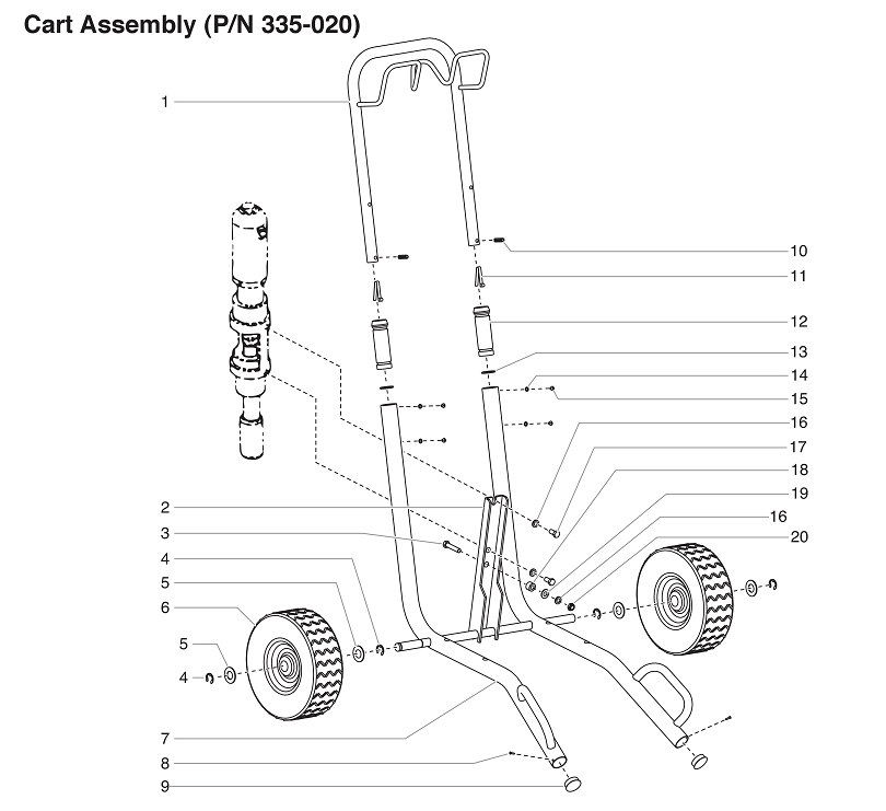 PowrTwin 4900GH Cart Assembly : Titan, Speedflo, Wagner