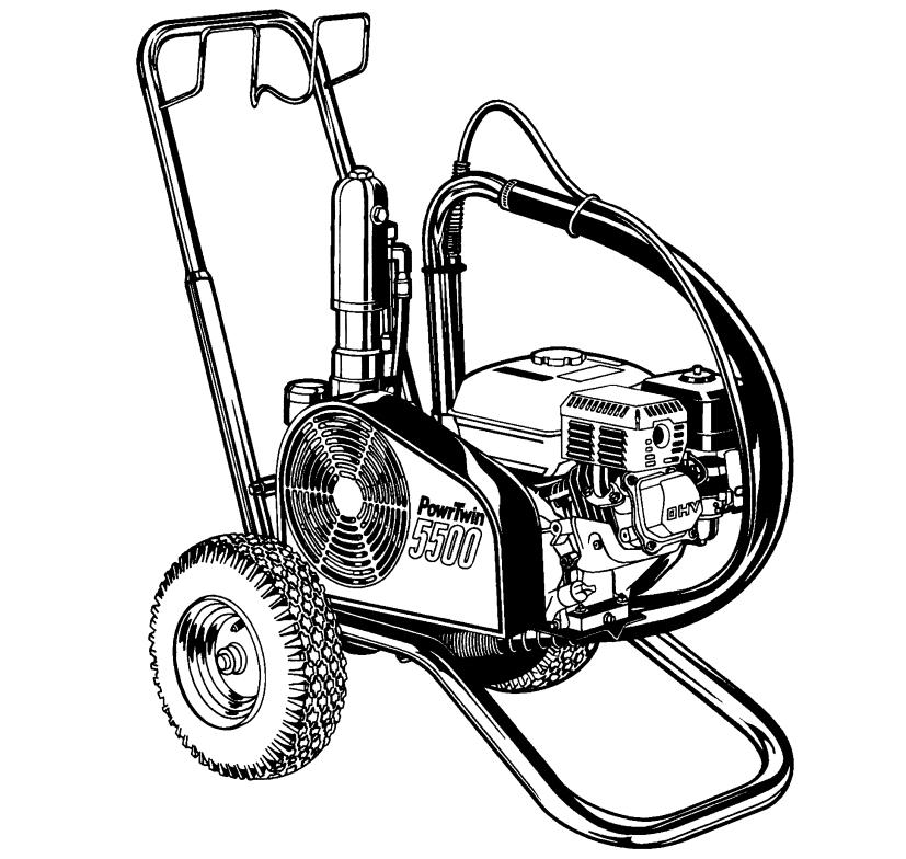 PowrTwin 5500 Airless Sprayer : Titan, Speedflo, Wagner