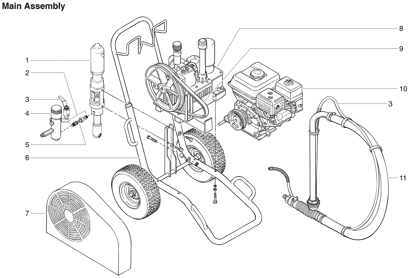 PowrTwin 8900XLT Main Assembly : Titan, Speedflo, Wagner