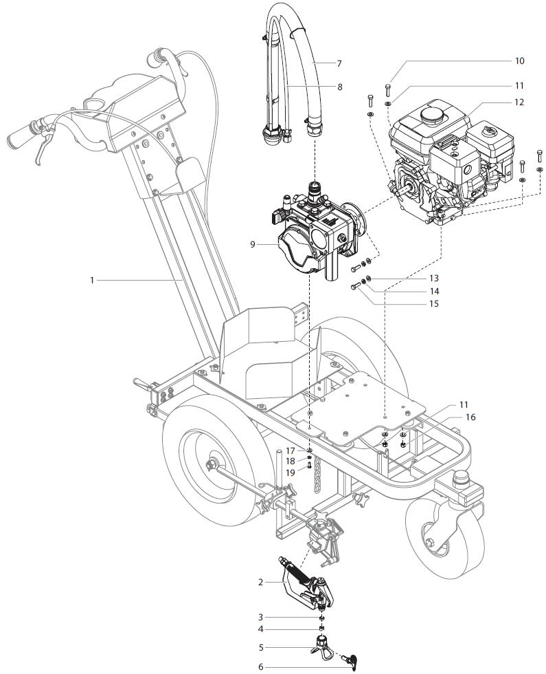 PowrLiner 3500 Main Assembly : Titan, Speedflo, Wagner