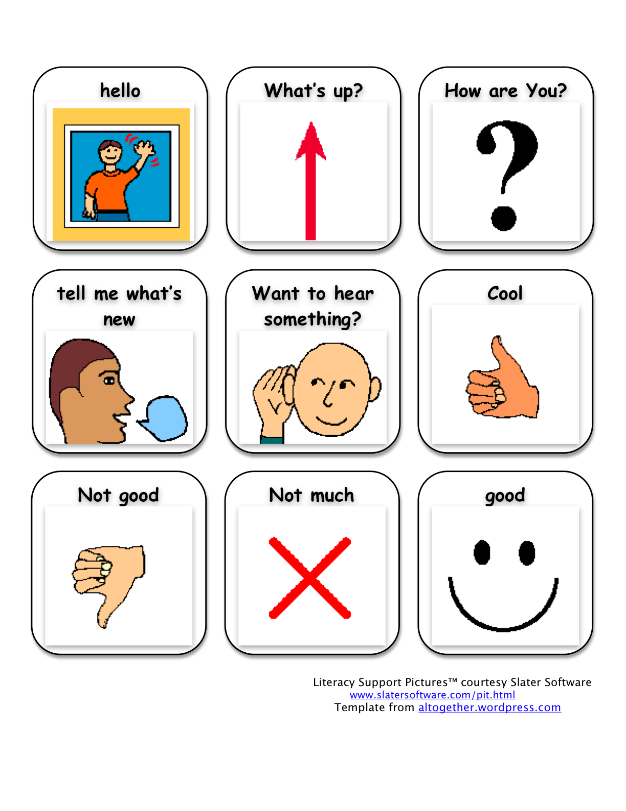 Worksheet For Adults With Aphasia