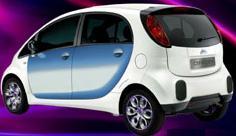 Photoshop föreställande Citroëns nya eldrivna stadsbil. Fotograf okänd.