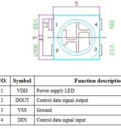 10 x ws2812b 4 pin 5050 smd rgb led black [ 1600 x 967 Pixel ]