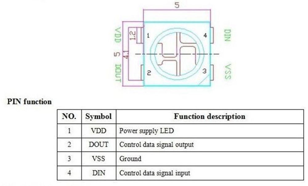 medium resolution of 10 x ws2812b 4 pin 5050 smd rgb led black