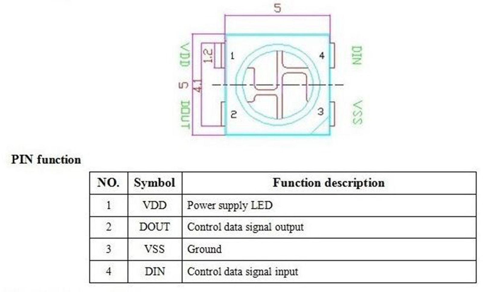 hight resolution of 10 x ws2812b 4 pin 5050 smd rgb led black