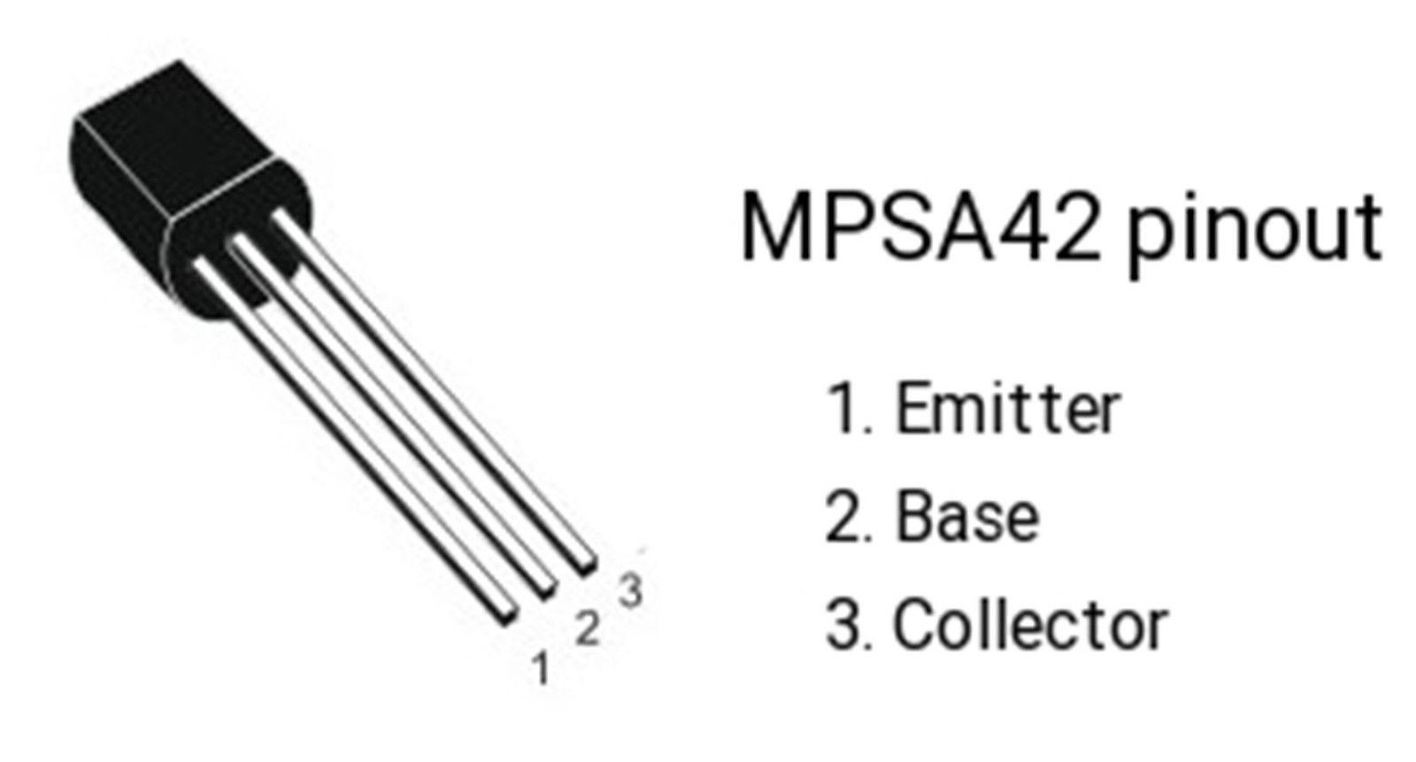 10 X Mpsa42 Npn High Voltagetransistor To 92