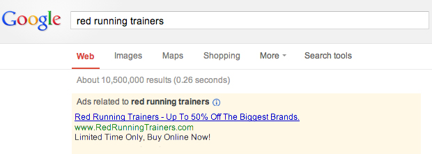 pay per click advertising example