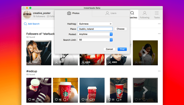 instaheads-search