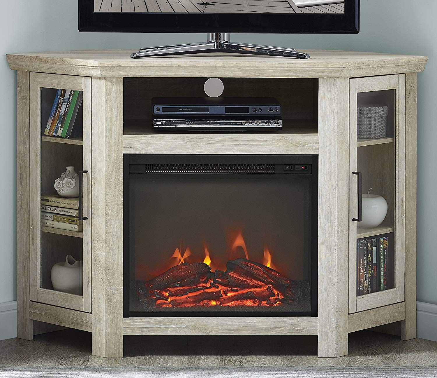 title   Corner Tv Stand With Fireplace