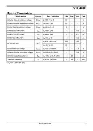 STC401 Datasheet, Equivalent, Cross Reference Search