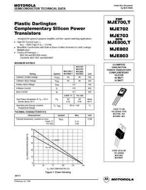 MJE700T Datasheet, Equivalent, Cross Reference Search
