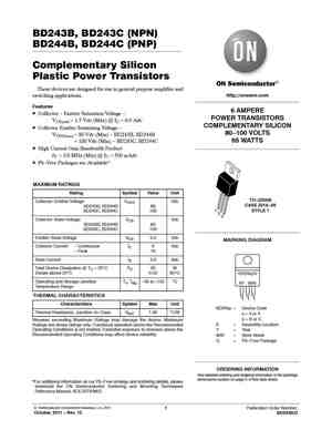 BD244C Datasheet, Equivalent, Cross Reference Search