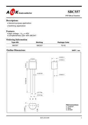 Bc557 Datasheet Equivalent Cross Reference Search