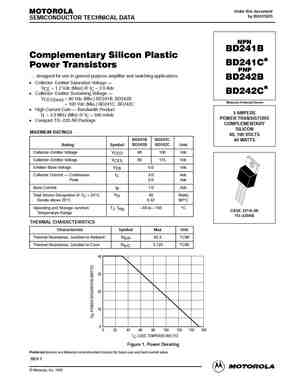 BD241 Datasheet, Equivalent, Cross Reference Search