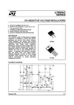 l7912 PDF datasheet. ALL TRANSISTORS DATASHEET. POWER