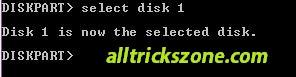 select diskpart usb boot alltrickszone
