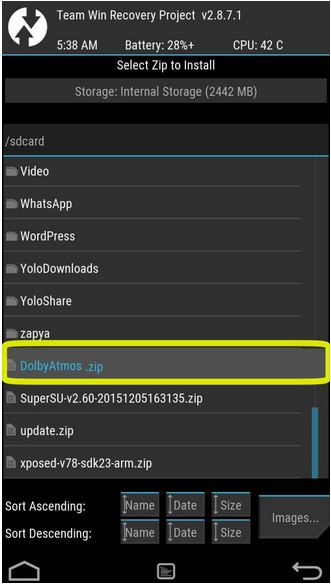 dolby atmos android zip