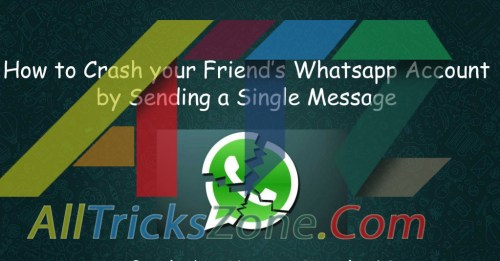 Working} Crash your Friends Whatsapp by Sending Unlimited Message