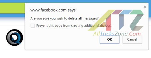 Facebook confirm all deletion at once