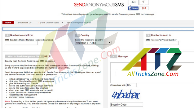 100% Working}Top 7 Sites To Send Anonymous SMS Without Registration