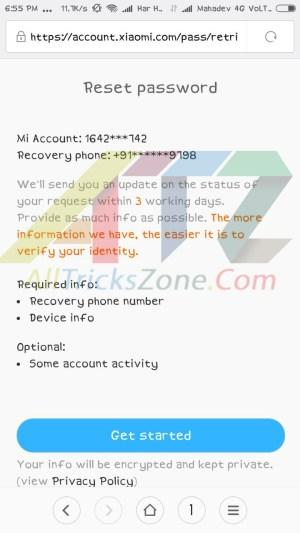 Recover MI Locked Account