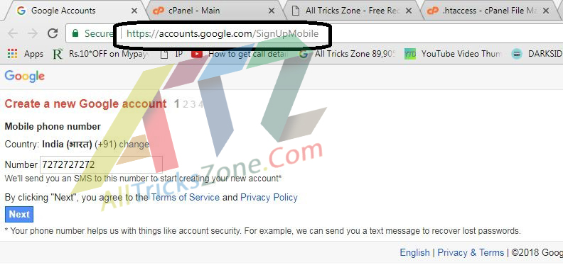 How To Create A New Gmail Account Without Phone Number