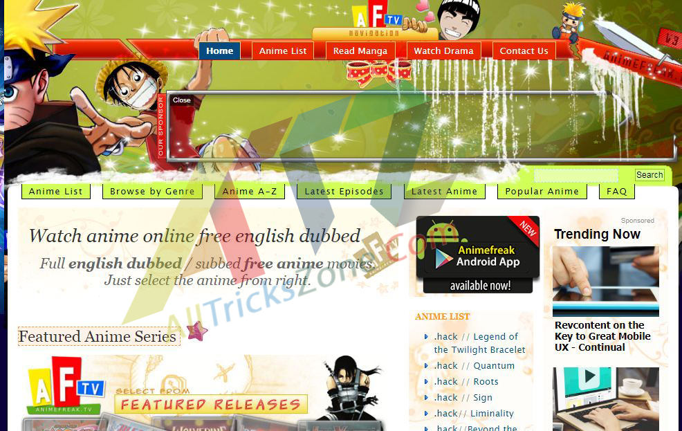 Sites of Stream Anime Videos HD Quality