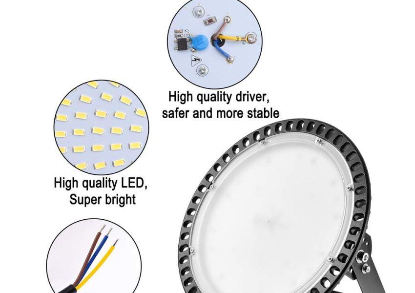 LED High Bay Light - Remplacer lampes halogénures métalliques typiques