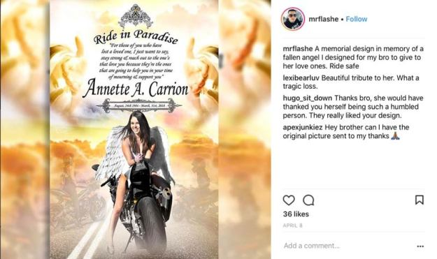 mrflashe Annette Carrion memorial artwork