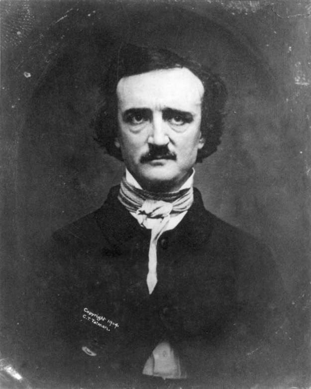 Daguerreotype of Edgar Allan Poe on the morning of November 9th 1848 by Edwin H Manchester