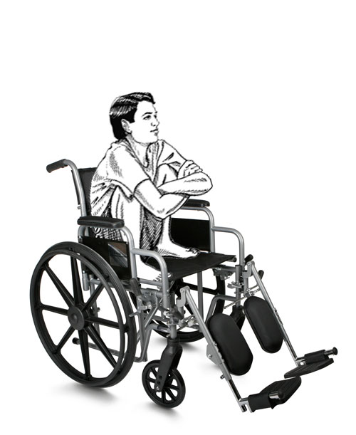 Stephen Hawking - squatting in the chair