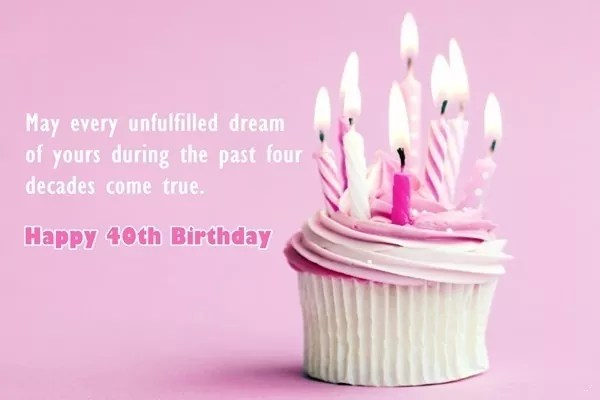 120 Best Happy 40th Birthday Wishes And Messages