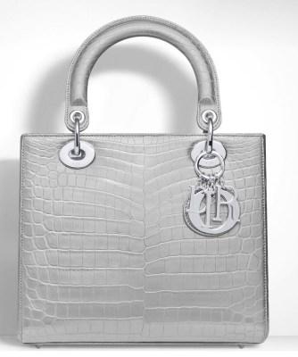Christian Dior Lady dior metallic bag