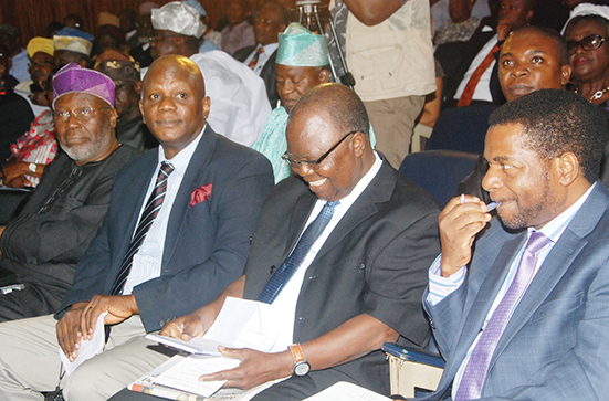 Pix from left Professor Peter Adeniyi; seye Adetunmobi; Dr Gabriel Ojegbile and Profe Goke Adegoroye at the event