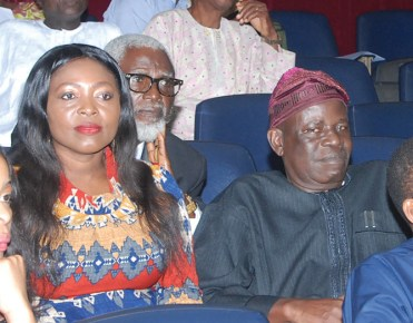 Pix from left Mrs Rita Amuka and Dr Ganiyu Owolabi at the Public presentation of the autobiography of Ladipo Adamolekun held at NIIA, Victoria Island Lagos. Photo Lamidi bamidele