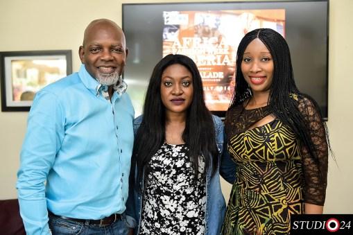 Sola Oyebade, Yetunde and Ronke Ademiluyi Founder AFWN and AFWL