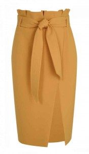 Topshop paper bag waist skirt