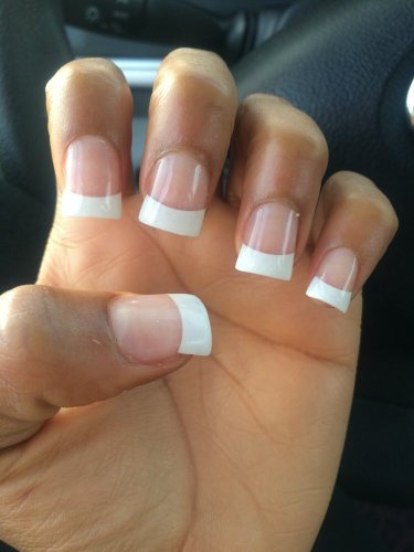 Thick, White French Tips