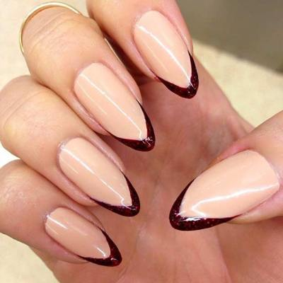 Thin, Colorful French Tips