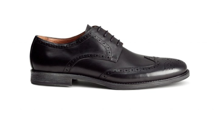 black leather brogues
