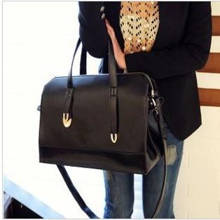 Woman-s-handbags-Classic-Simple-Design-Black-shoulder-bags-Big-Black-fashion-lady-handbags-free-shipping
