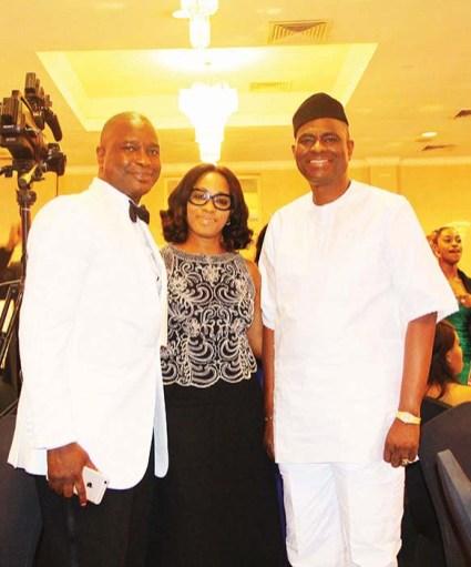 Olusoji Oyawoye, Mrs Ronke Ogunsanya with Segun Ogunsanya (MD Airtel Nigeria)