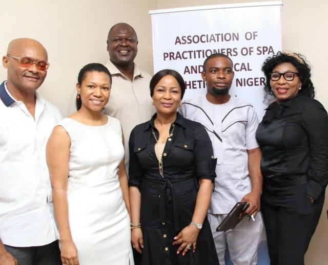L-R: Dr. Bruce Nwachie, Joyce Busari, Dr. Moyo Kasim, Toyin Collins, Dr. Felix Avajah & Pamela Olatunji- bello,