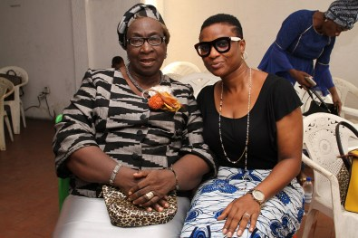 Mrs Fahn and Goodie Aiegbe