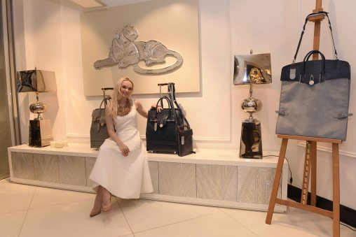 Julia-D.-Lantieri-with-AlterEgo-Milano-Artcases-on-display-during-launch-of-Alter-Ego-Private-Atelier-in-Abuja
